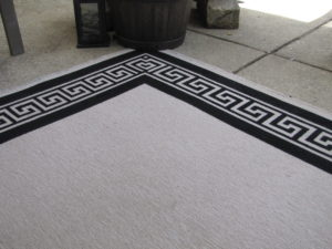 Clean outdoor carpet