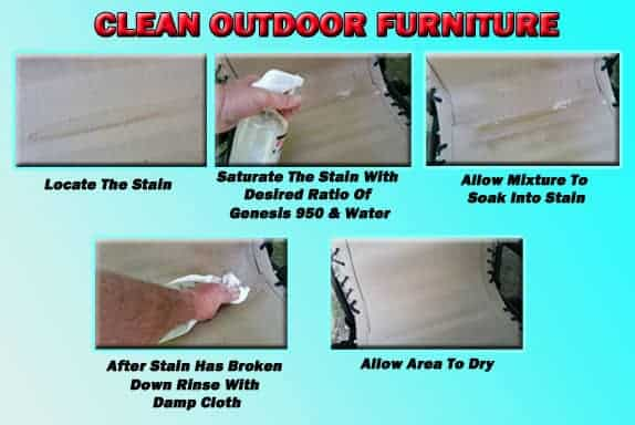 Spring Cleaning - Clean Outdoor Furniture