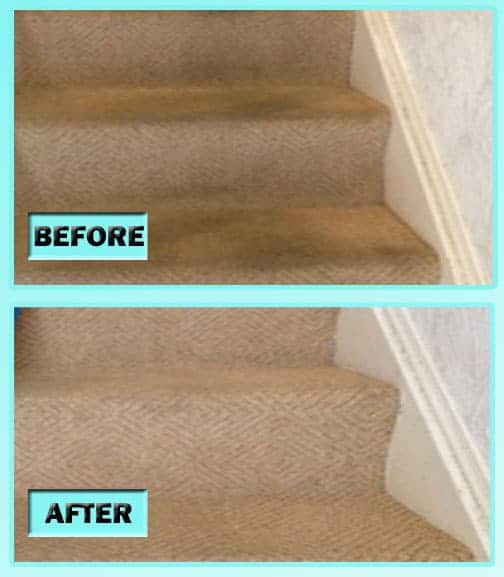 DIY Carpet Cleaning Stairs